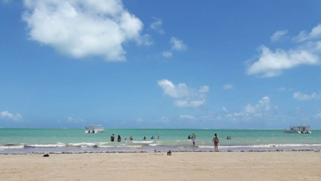 A praia do Poço tem águas tranquilas e um vento gostoso. Foto: Marcelle Ribeiro