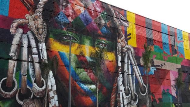 Maior mural grafitado do mundo, do Kobra. Foto: Marcelle Ribeiro