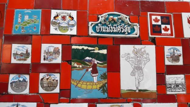 Selarón recebeu azulejos de turistas do mundo todo. Foto: Marcelle Ribeiro