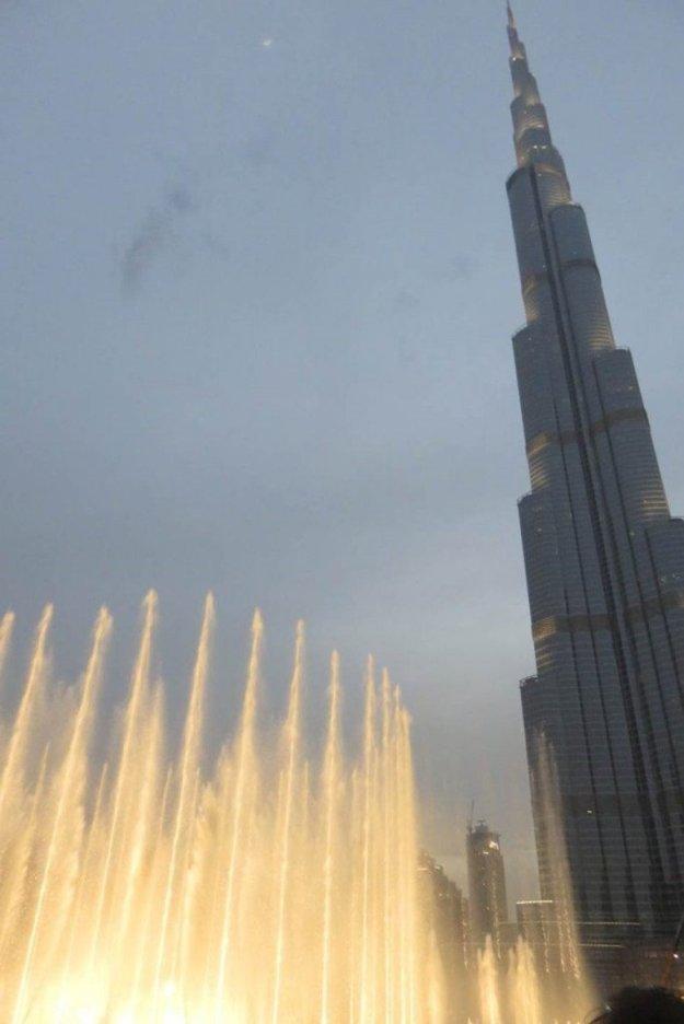 Dubai Fountain e Burj Khalifa,