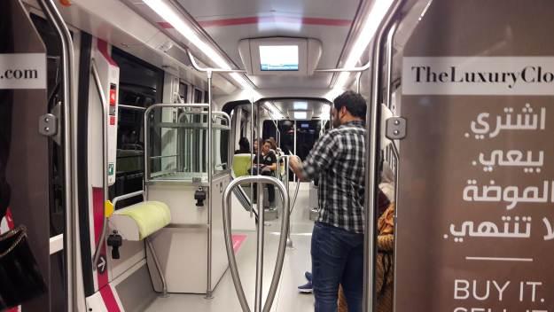Trem de Dubai. Foto: Marcelle Ribeiro.