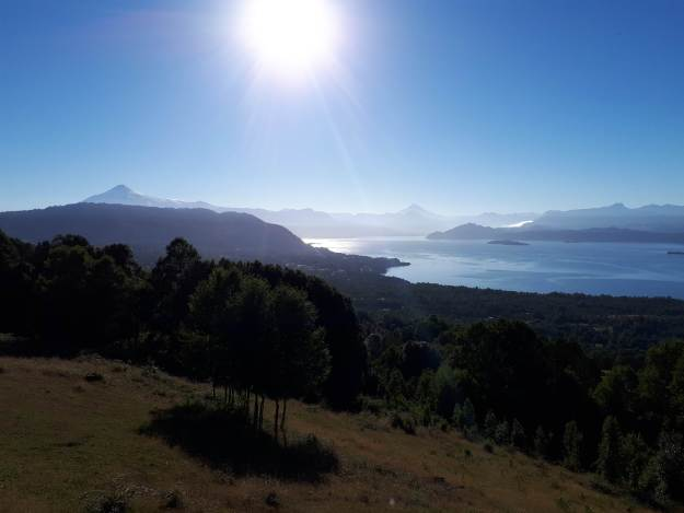 Lago Calafquén, em Lican Ray