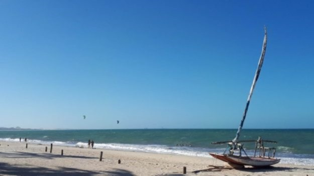paisagem da praia de cumbuco