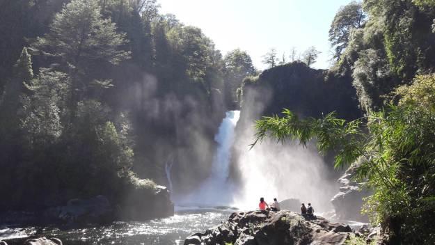 Salto Huilo Huilo, no Chile