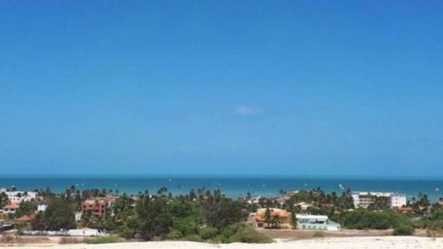 vista de cumbuco do buggy na praia de cumbuco