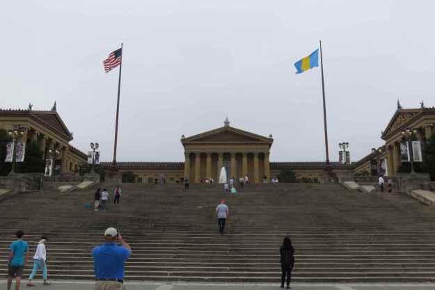 """Os famosos """"Rocky Steps"""", no Museu de Arte da Filadélfia"""