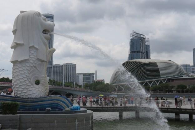 merlion estatua singapura