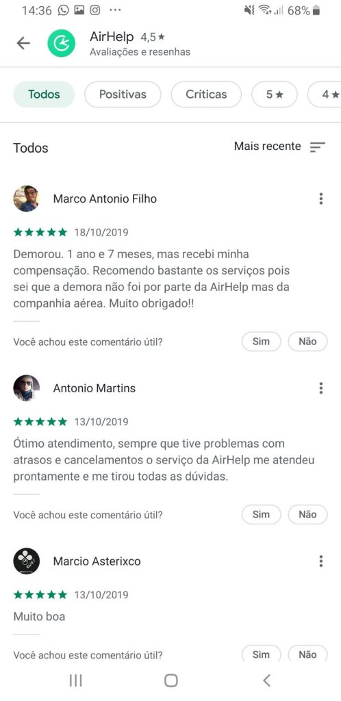 Airhelp é confiável reviews app android