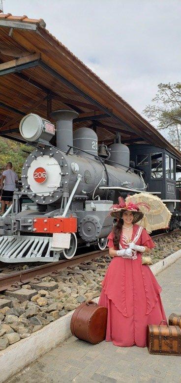 Foto antiga trem o que fazer em conservatória