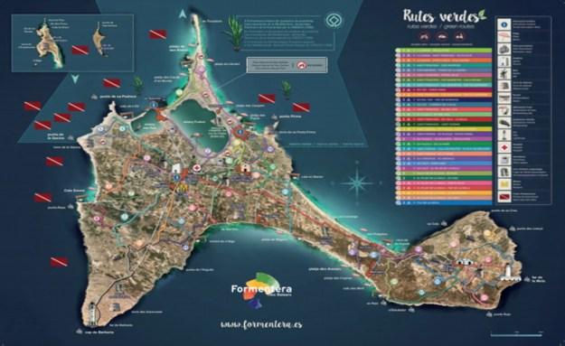 mapa ilha de formentera