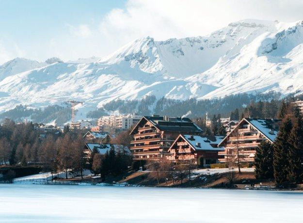 montanhas nevadas suíça