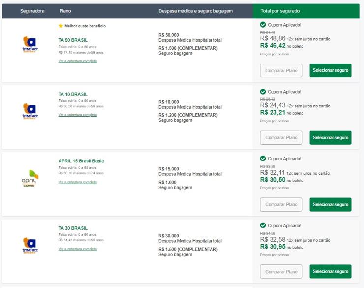 seguro viagem no brasil seguros promo