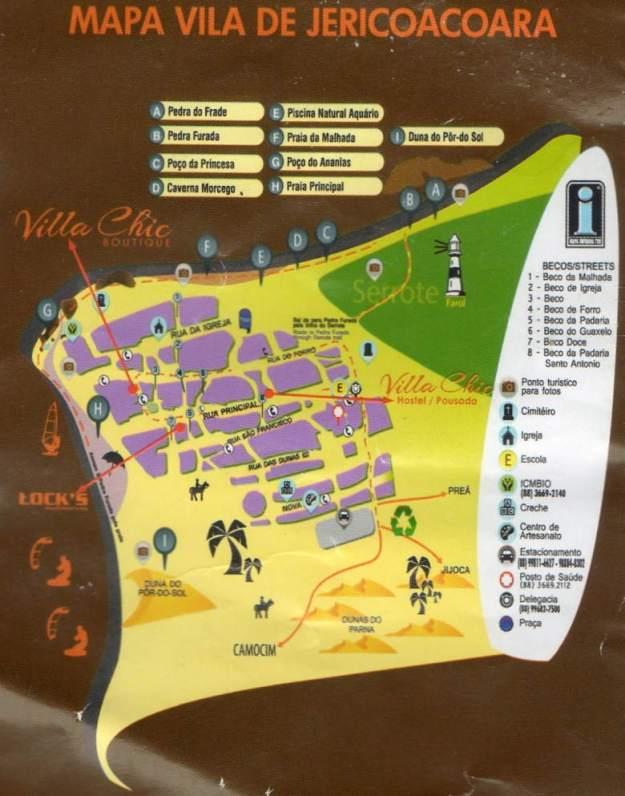 mapa onde ficar em jericoacoara