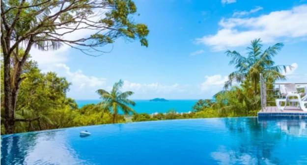 piscina borda infinita casas para temporada em florianópolis