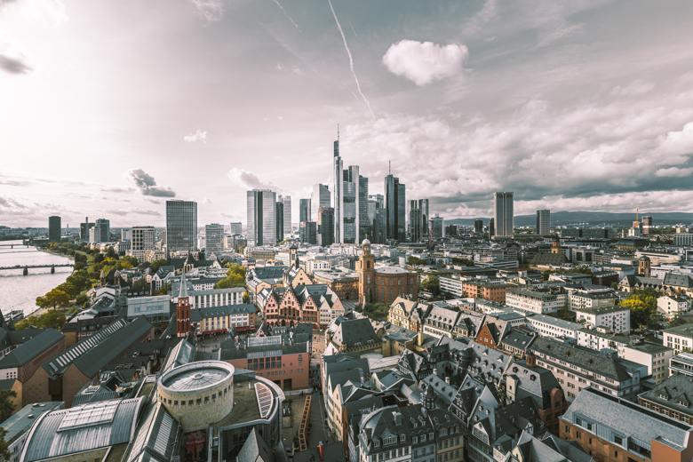 vista aérea frankfurt seguro viagem alemanha