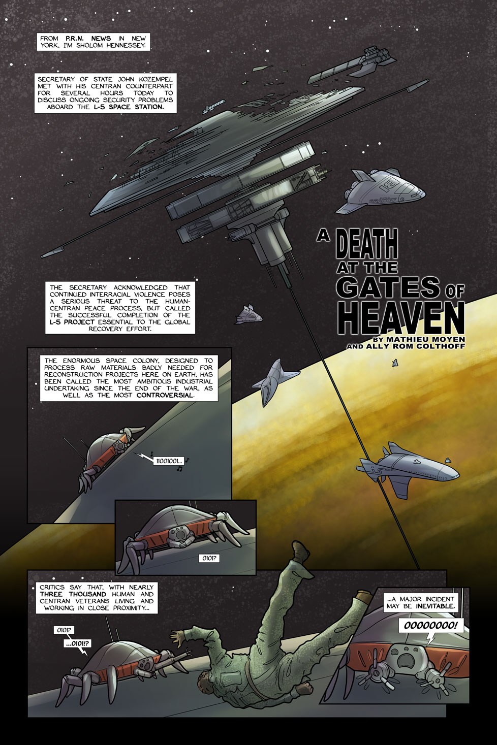 A Death at the Gates of Heaven – Page 1