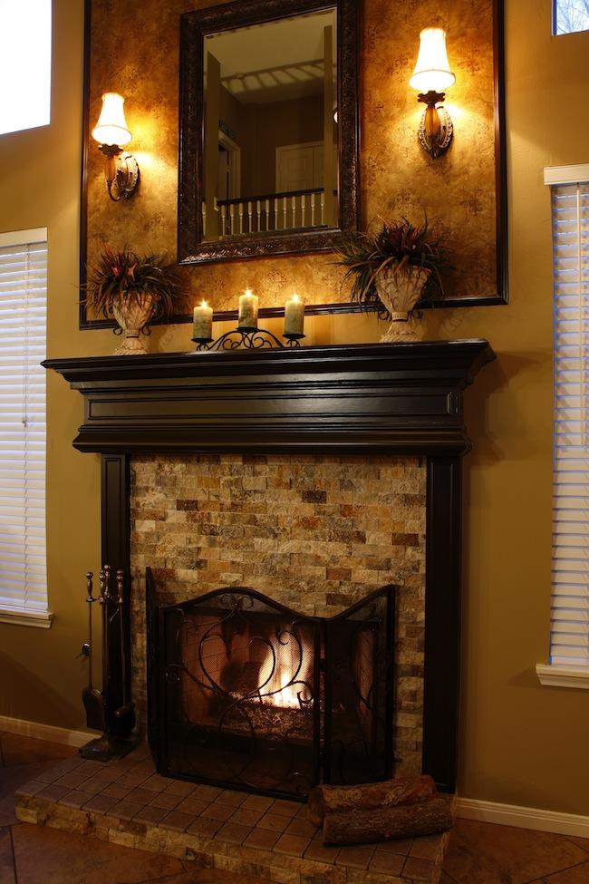 Sugar Land  Glen Laurel  Kitchen  Fireplace Remodel  Vick ConstructionVick Construction