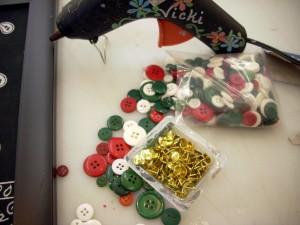Bandana Memo Board with Button Push Pins