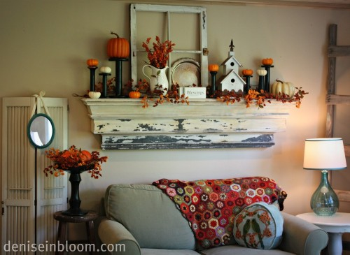 Fabulous Friday - Inspiration For Fall Mantle Decorating
