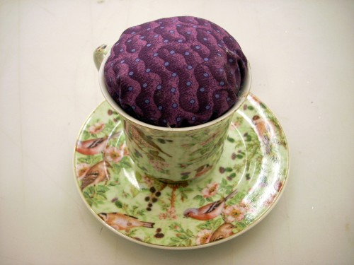 How to Make a Tea Cup Pin Cushion