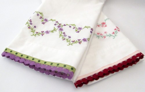 It's In the Details - Embroidered and Trimmed Pillowcases