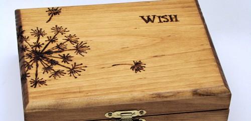 Make a Wood Burned Keepsake Box for Mother's Day