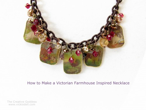 How to Make a Victorian Farmhouse Inspired Shrink Plastic Necklace