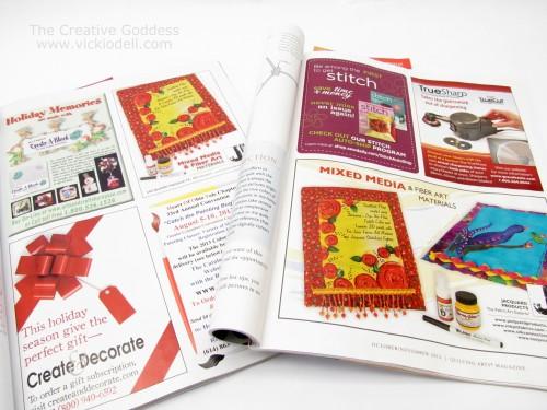 Create and Decorate, Quilting Arts Magazine