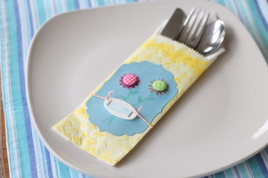 easter table decor pencil pouch