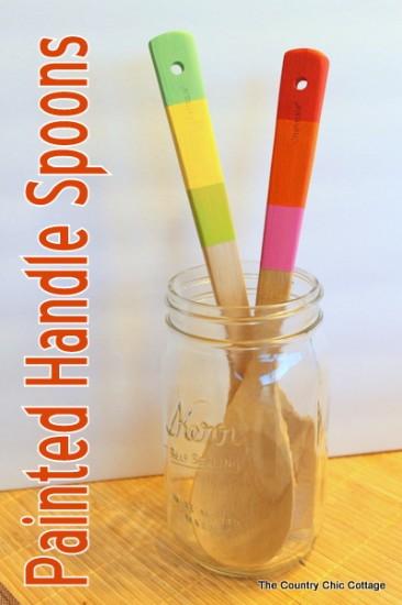 painted handle wood spoons tutorial-004