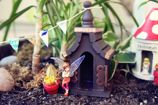 A Mini Birdhouse Fairy Village