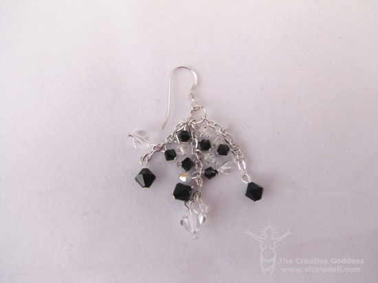 Easy to Make Chain and Crystal Earrings