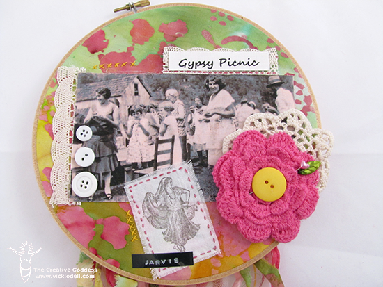 Mixed Media, Scrapbooking and Embroidery Hoops