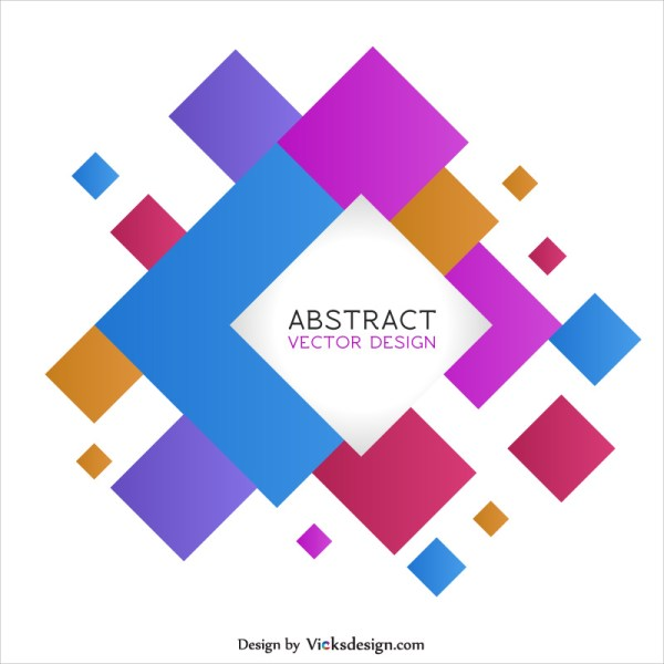 Square Shape Abstract Background Creative Colored