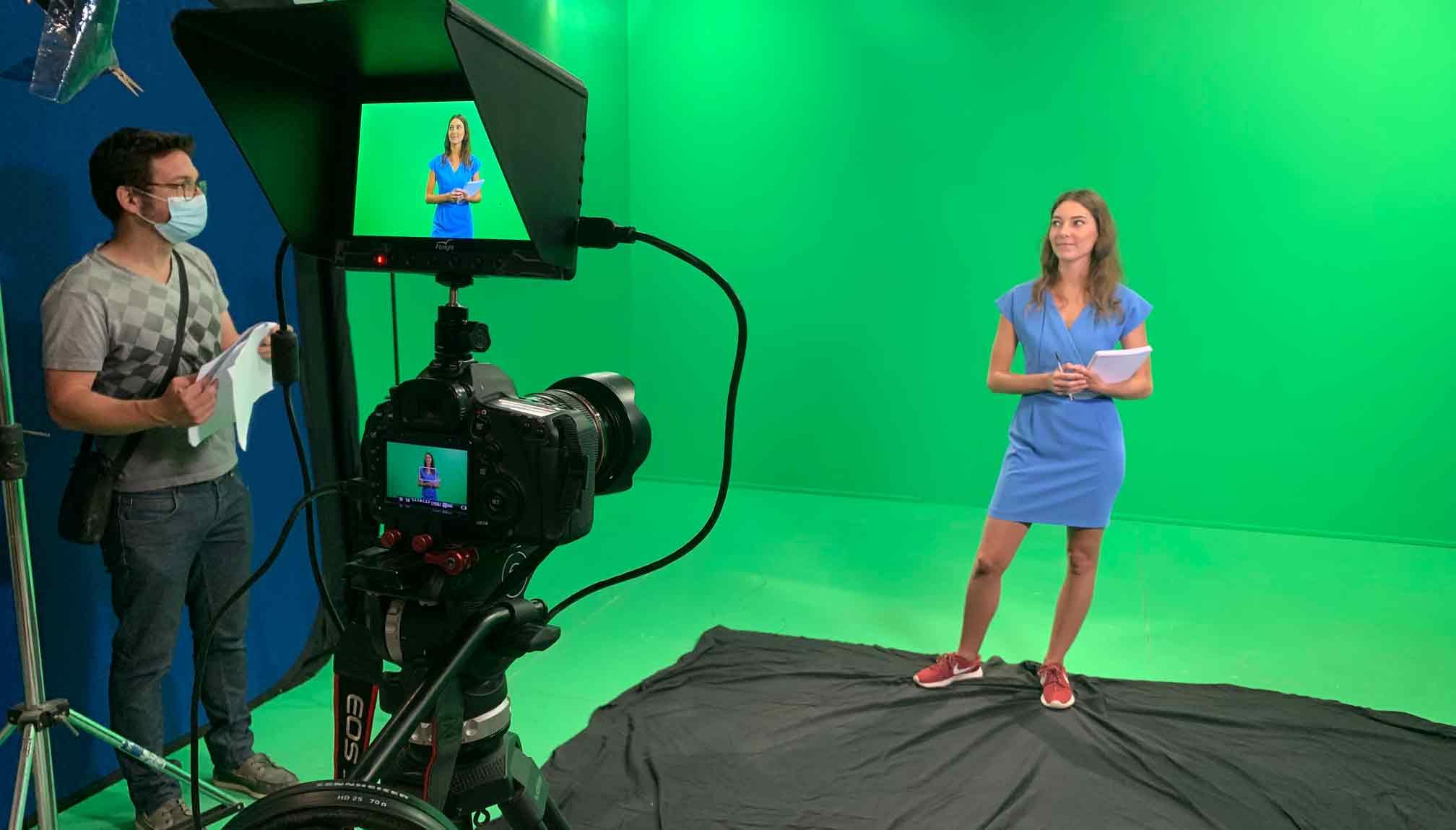 Tournage d'un clip au studio fond vert Vicprod