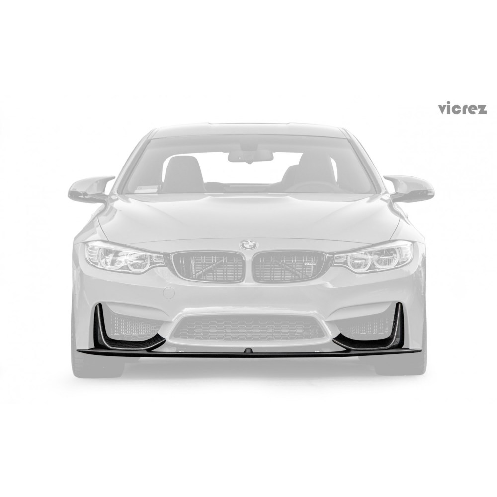 medium resolution of vicrez bmw m3 f80 m4 f82 f83 2014 2018 vz carbon fiber front lip vz100412