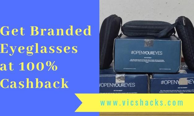 Shopping Loot : Get Branded Sunglass & Eyeglass at 100% cashback