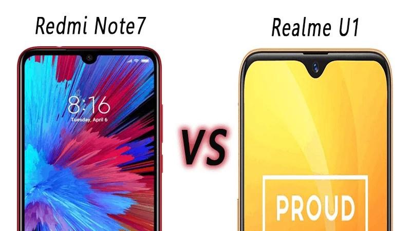 Realme U1 vs Redmi Note7: Price, Spec & features