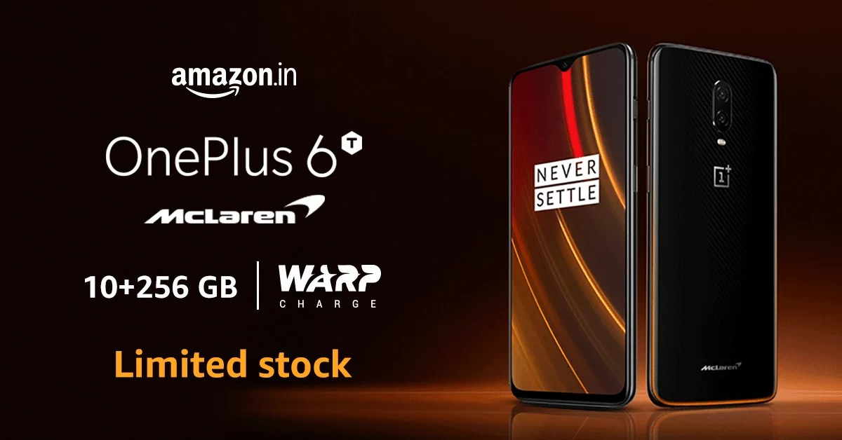 OnePlus 6T McLaren Edition on sale with 10GB RAM & 256GB storage at Rs. 50,999