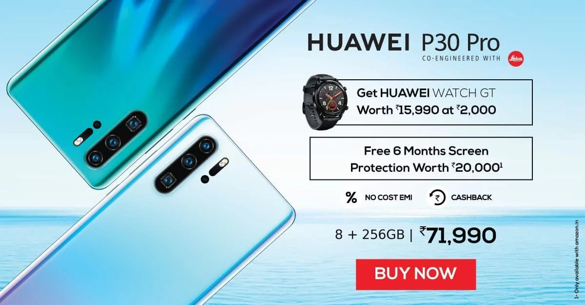 Huawei P30 Pro Sale goes for first time via Amazon India