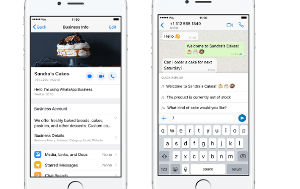 WhatsApp Business App for iPhone