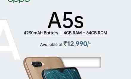 Oppo A5s 4GB + 64GB new storage variant introduced for price Rs. 12,990