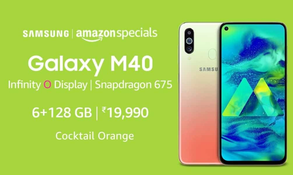 Samsung Galaxy M40 Cocktail Orange color soon launch in India: Price, Sale date