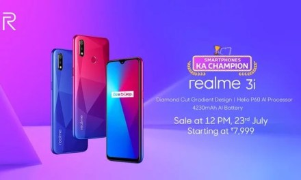 Realme 3i launched, price in India starts from Rs. 7,999: Full Specs, Price & Sale