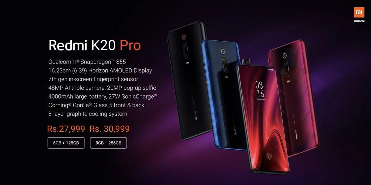 Redmi K20 Pro launched, price in India starting from Rs. 27,999: Full Specs & Alpha sale details