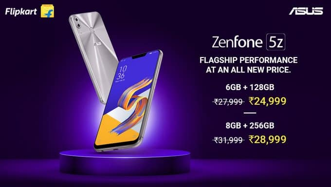ASUS Zenfone 5Z price drop for all storage variants: Price & Specs