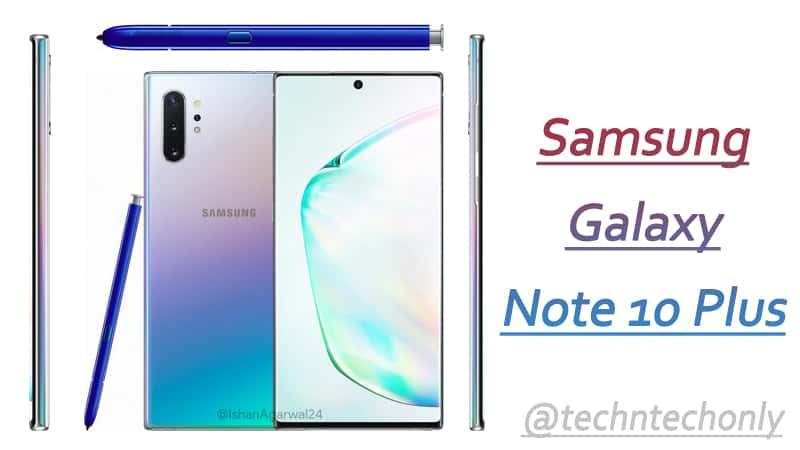 Samsung Galaxy Note 10 Plus Colors officially named as Aura Glow, Aura Black & Aura White