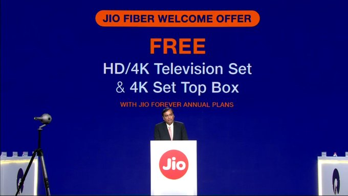 JIO Fiber launch date on 5th September: Welcome offers, plans & price