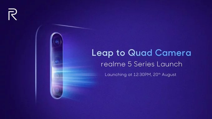 Realme 5 series launch commenced on 20th August: Realme 5 & 5 Pro