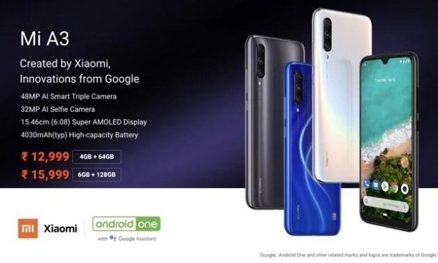 Xiaomi Mi A3 price in India starts Rs. 12,999: Phenomenal Upgrade!
